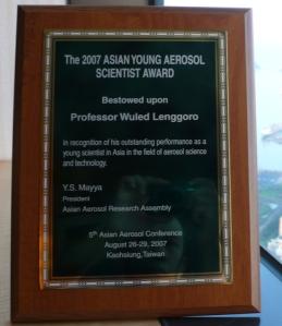 Asian Young Aerosol Scientist Award