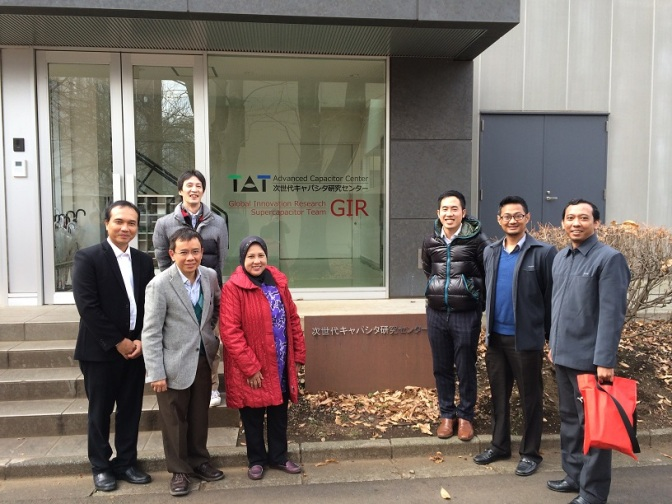 Guests: faculty members from Institute Technology Bandung (ITB), visited TUAT Capacitor Research Center.