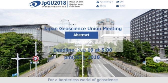 An invited talk at JpGU ((Japan Geoscience Union)日本地球惑星科学連合会